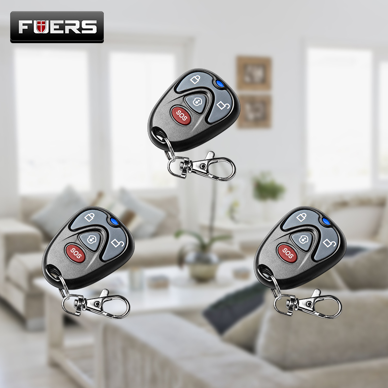 FUERS 433 MHz Home Security Wireless Remote Controller Key For G90B-PLUS GSM Alarm System
