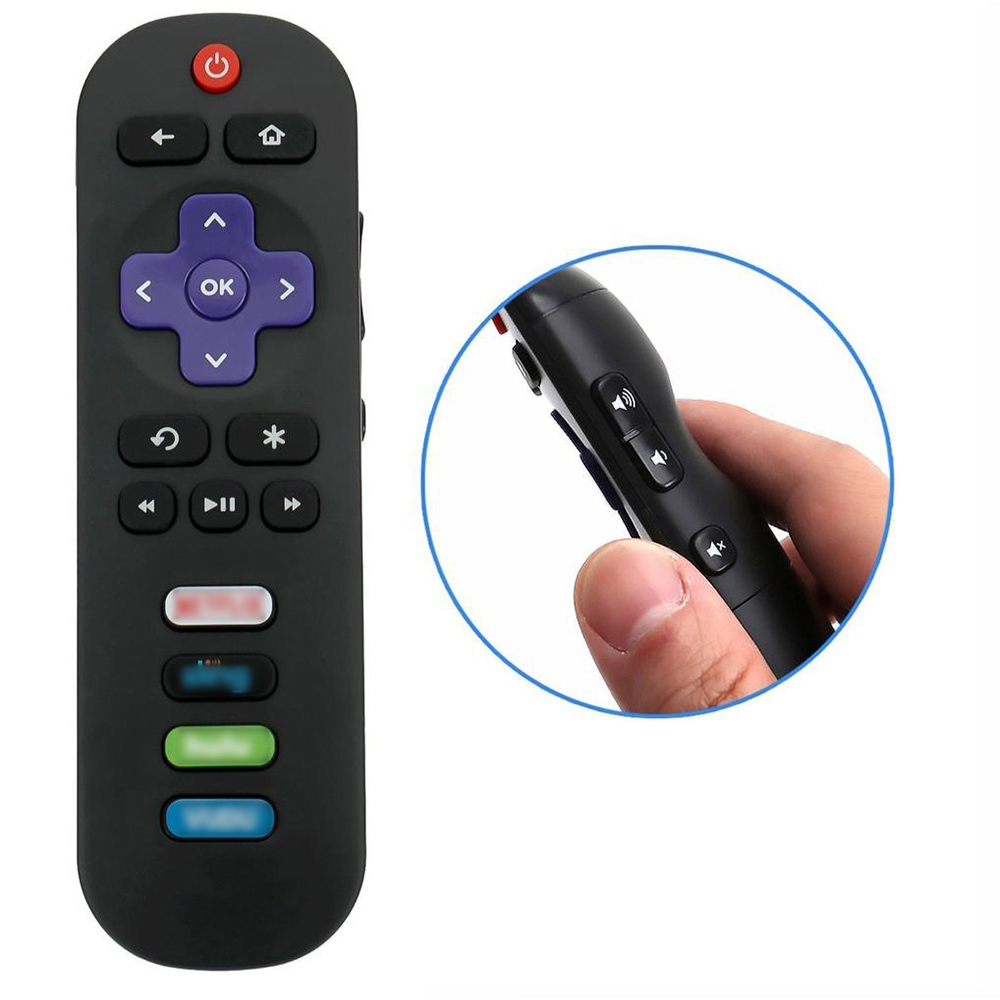 Universal TV Remote Controller For TCL 433mhz New Replacement Remote Control For Roku TV Side Button Convenient image