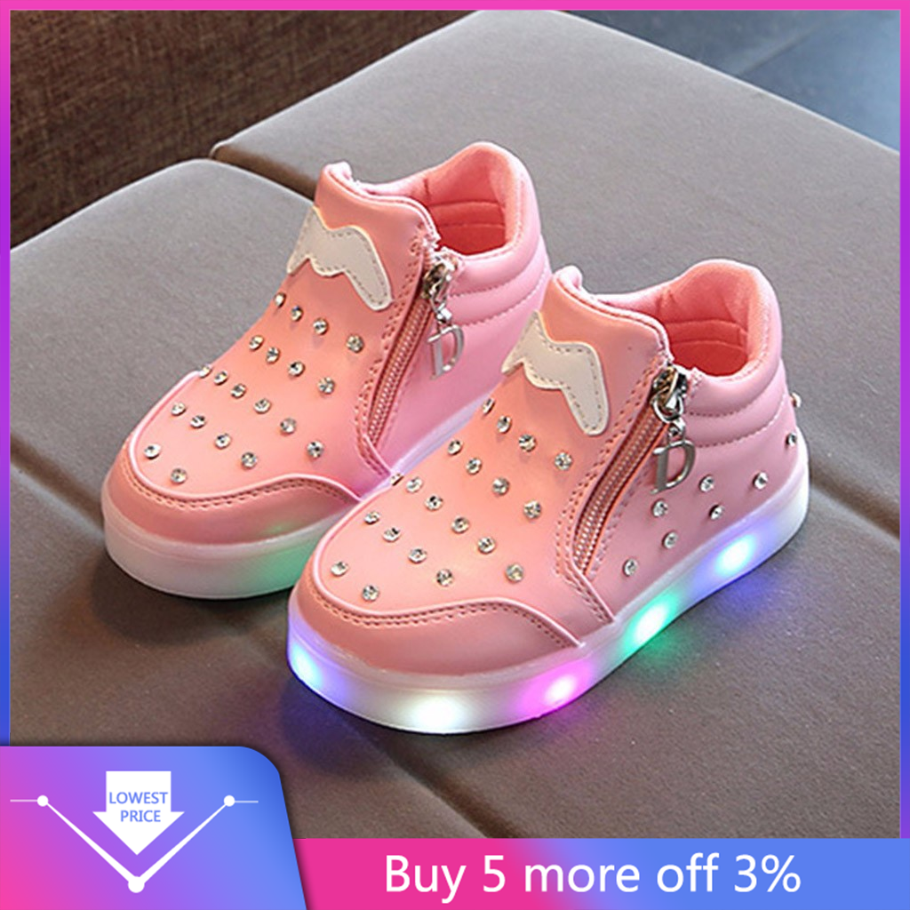 Toddler Baby Shoes Fashion Sneakers For Children Girl Boys Star Luminous Child Casual Colorful Light Shoes Sneakers 2019#3