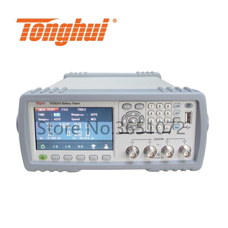 Fornecedor profissional 100uv-350v do verificador da bateria de china da resistência interna da bateria de th2523a, 1u ohm-3.5k ohm