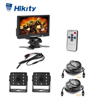 Hikity 7'' TFT LCD Monitor IP68 waterproof shockproof high temperature 12 IRs night vision with Dual Backup Cameras