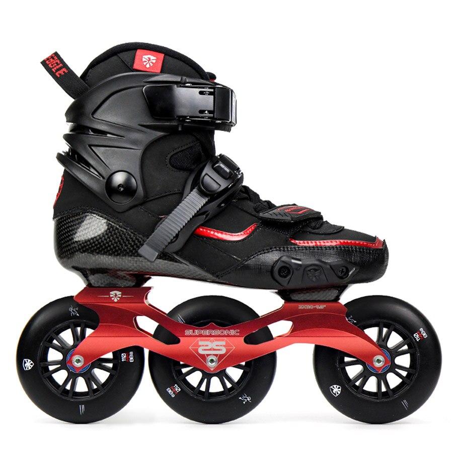 100% Original volant aigle dérive en Fiber de carbone vitesse patins à roues alignées 3*110mm roues chaussures à roulettes professionnelles patinage libre Patines
