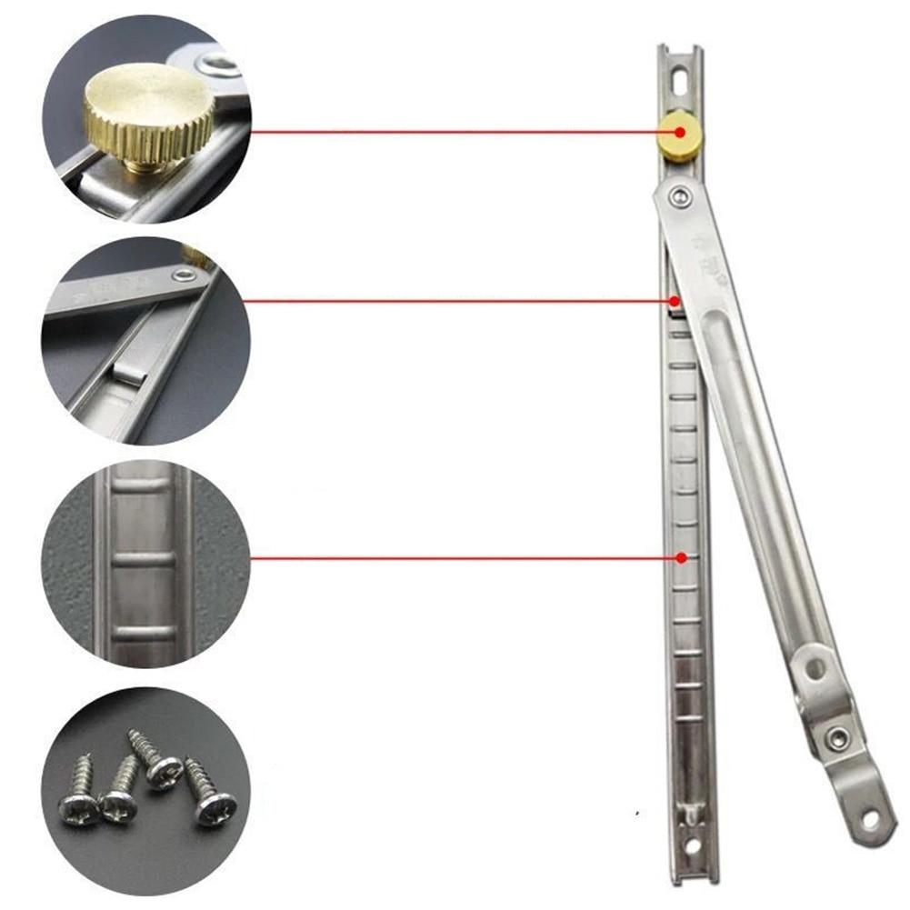 Stainless Steel Safety Lock Durable Windproof Brace Door Kids Rustproof Window Restrictor Swivel Sliding Stopper Protect Sash