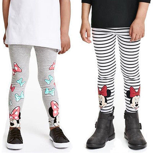 Kids Children Baby Girl Cotton Leggings Full Length Minnie Mouse Baby Girls Long Trousers Pants tag 120
