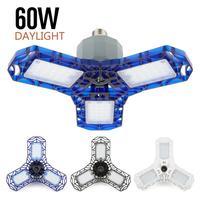 360 grados 40W 60W Triple Garage luz resplandor Deformable interior garaje luz Premium 6000 lúmenes LED Luz