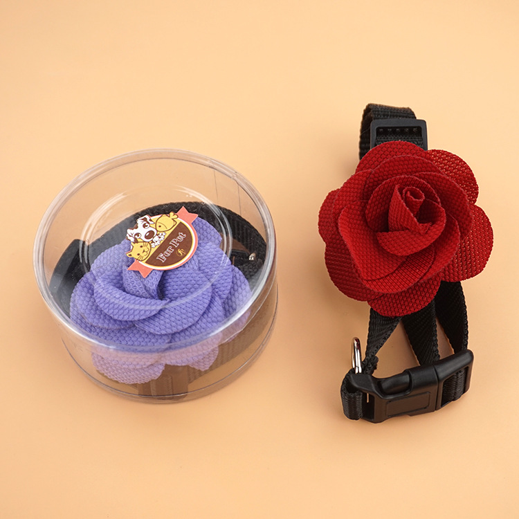 Pet Supplies Dogs And Cats Big Flower Neck Ring 1.5 Flower Dog Neck Ring Exquisite Box Packaging Pet Collar