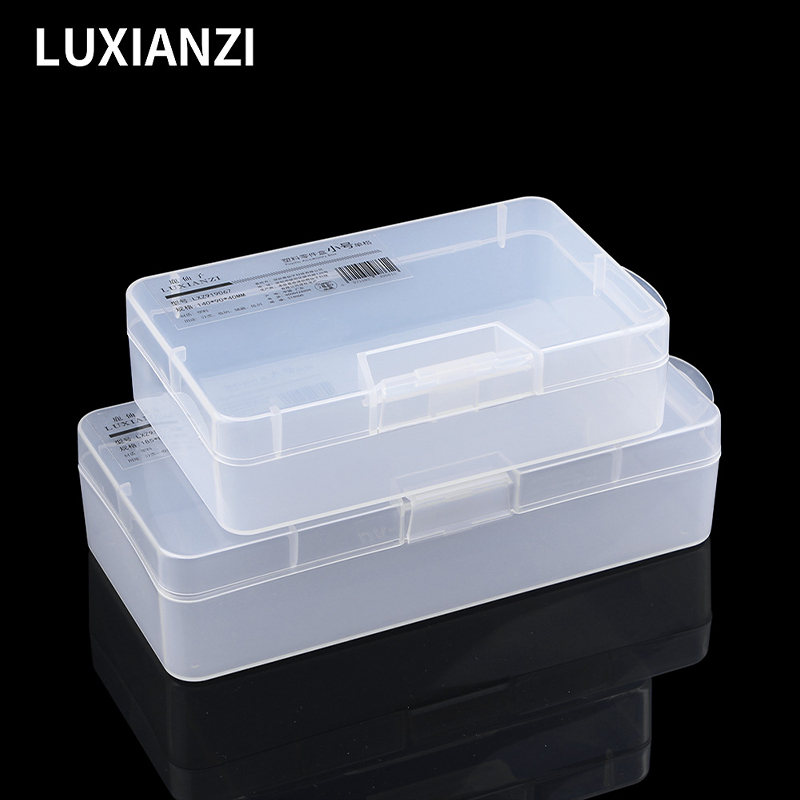 LUXIANZI Portable Plastic Organizer Box For small things Part Screws Container Toolbox Portable Jewelry Tool Case Storage Box