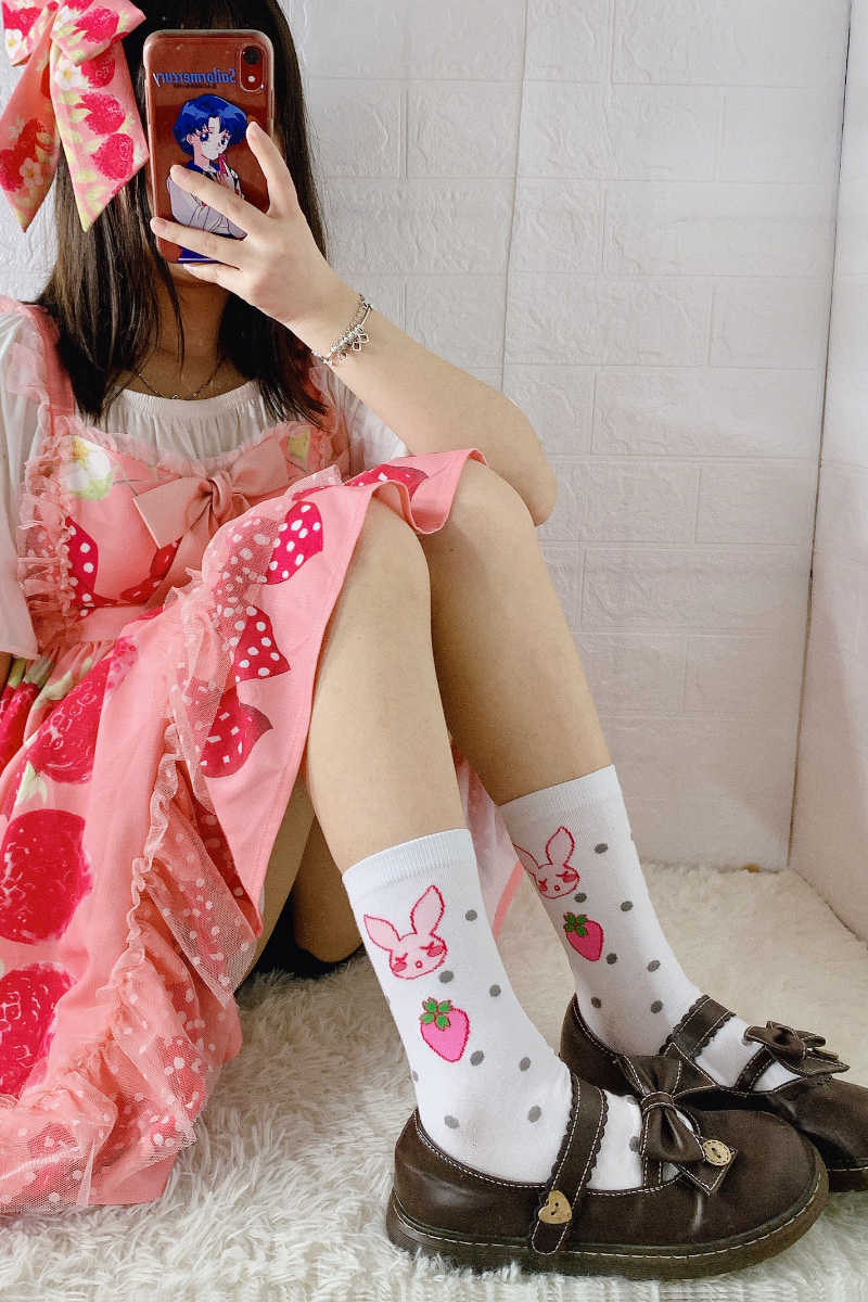 Prinses Zoete Lolita Sokken Japanse Zoete En Mooie Sokken Koreaanse Ins Mode Konijn Cartoon Studenten Sokken Vrouwen XWZ118