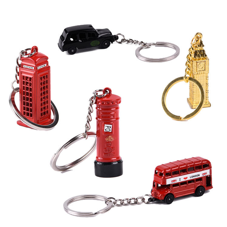 London Bus Telephone Box Keyring NEW UK Seller Metal Key Ring British Souvenir