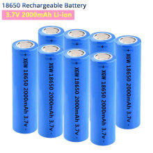 New 18650 Lithium Rechargeable Battery 2000mAh 3.7V Flashlight LI-Ion Batteries