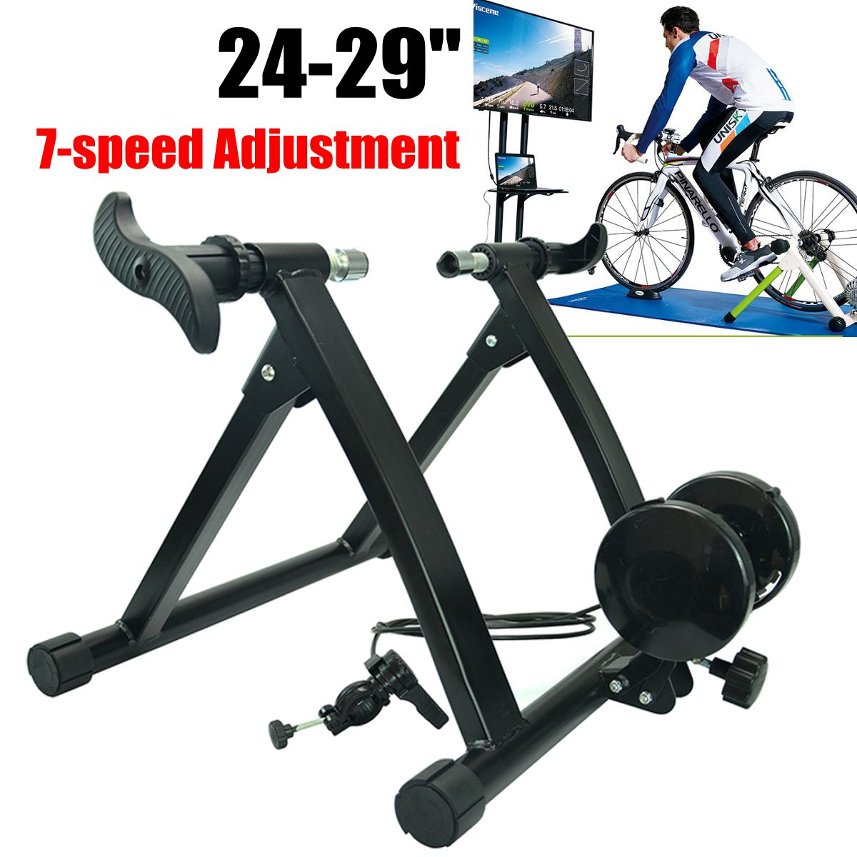Bicycle Trainer Home Training Indoor Exercise 24-29 7 Speed Adjustable Road Bike Trainer Road MTB Bike Trainers Cycling Roller