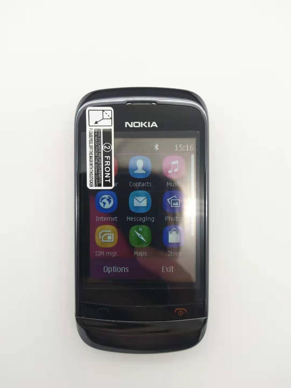 100% Original Nokia C2-03 Unlocked Dual Sim Card 2.6inch 2.0MP Bluetooth FM Radio Java Mobile Phone 1020mah Battey Free Shipping