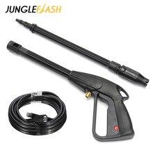 JUNGLEFLASH 160Bar M14 High Pressure Washer Spray Gun Car Wash Lance Cleaning Tools Dirt Blaster Lance Turbo Nozzle for Karcher