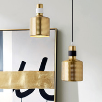Northern Europe Modern Chandelier small gold Creative Bar Lamp Reception Desk Shop Hotel Office Dining Room Light Fashion Lamp