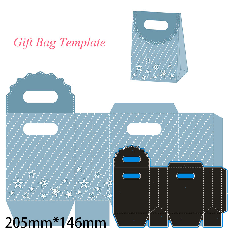 205*146mm lace gift bag Metal Cutting Dies for card DIY Scrapbooking stencil Paper Craft Album template Dies(China)