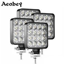 4 sztuk samochodów listwa LED reflektor roboczy 48W Offroad światło robocze 12V światło wnętrze LED 4x4 LED reflektor reflektor ciągnika dla ciężarówki ATV