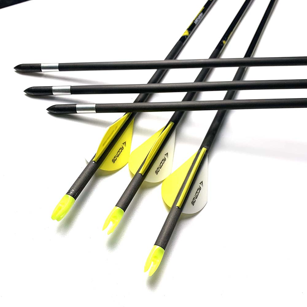 12 Pcs New 31 Inch ID 5.2mm Pure Carbon Arrow Spine 300 350 400 Carbon  Archery Hunting Arrow  For Recurve Compound Bow Hunting