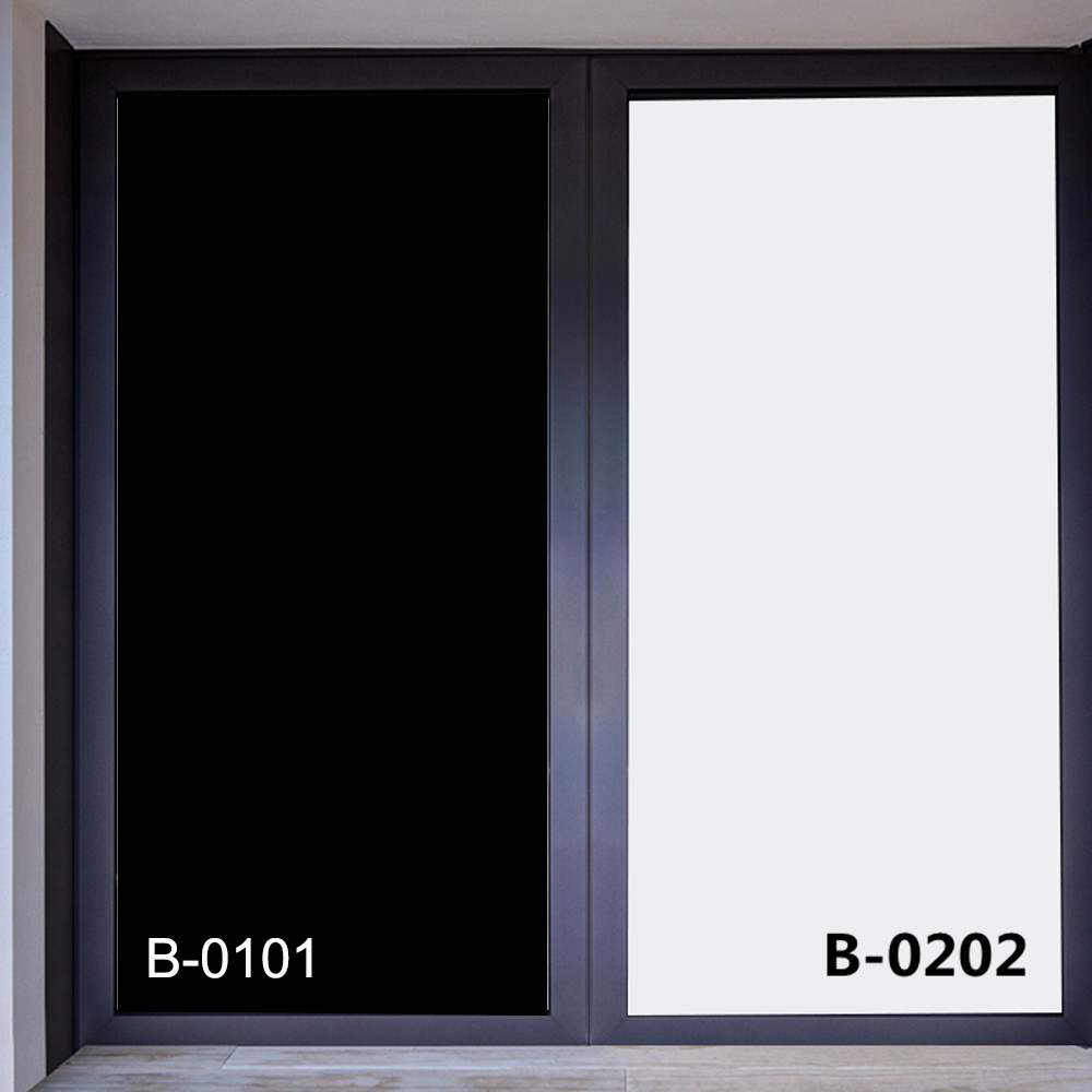 SUNICE Black/White Window Privacy Film Frosted Glass Window for Privacy Adhesive Anti UV Glass Tint for Home Shower and Office