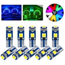 10 pçs acessórios do carro t5 lâmpada led w3w w1.2w led canbus interior luzes painel indicador de aquecimento cunha instrumento automático lâmpada