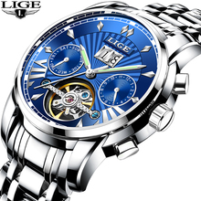 LIGE luxury Automatic Mechanical Tourbillon Men Watch Classic Business Watch Men Waterproof Male Wristwatch Relogio Masculino agent provocateur fatale orchid парфюмерная вода 30мл