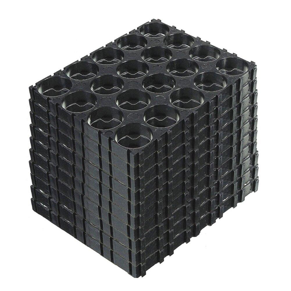 GTF 20/30/40/50 Pcs 4x5 Black Cell 18650 Batteries Spacer Brackets Radiating Plastic Shell Bracket
