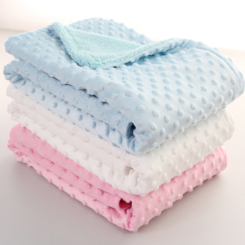 Baby Blanket & Swaddling Newborn Thermal Soft Fleece Blanket Solid Bedding Set Cotton Quilt  Infant Swaddle Wrap