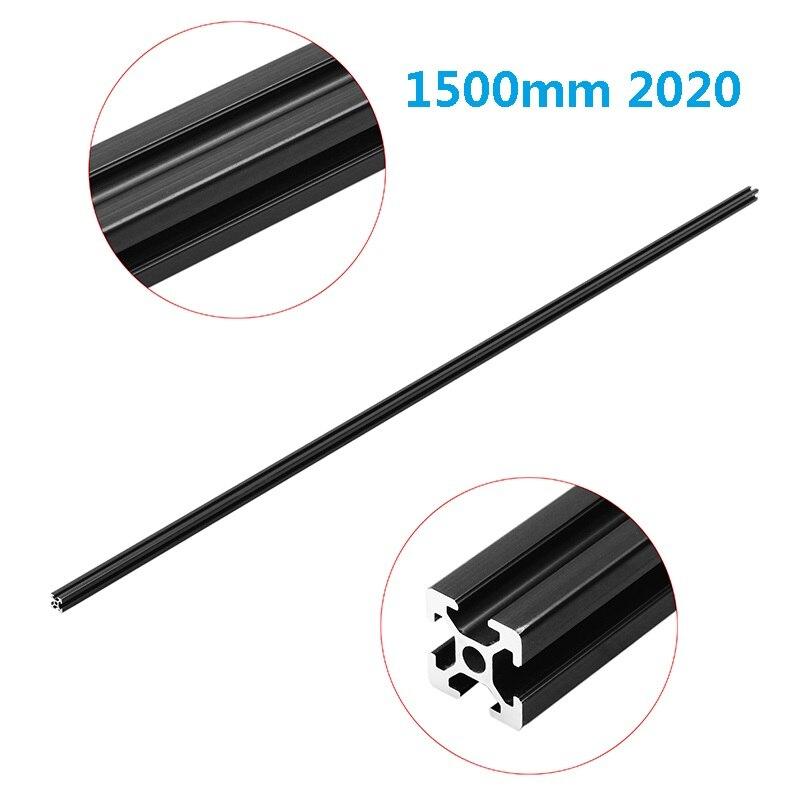Черный анодированный 1500 мм длина 2020 T Slot алюминиевые профили экструзионная рама для ЧПУ 3D принтер плазменный лазерный Стенд Мебель