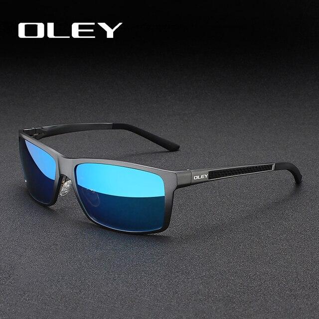 Occhiali da sole quadrati Vintage da uomo OLEY occhiali da sole polarizzati UV400 accessori per occhiali occhiali da sole maschili per uomo/donna Y7160
