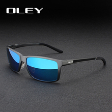 Oley Merk Mannen Vintage Vierkante Zonnebril Gepolariseerde UV400 Lens Eyewear Accessoires Mannelijke Zonnebril Voor Mannen/Vrouwen Y7160