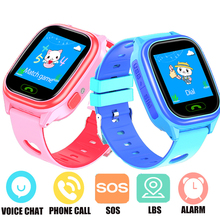 Smart-Watch Sim-Card Location-Tracker Phone-Call Kids Children with 2G SOS Anti-Lost