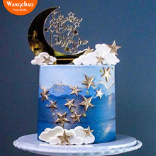 9pcs/set Acrylic Moon Cloud Star Happy Birthday Cake Topper Kids Baby Shower Dream Cake Decoration Party Supplies Child Favors(China)