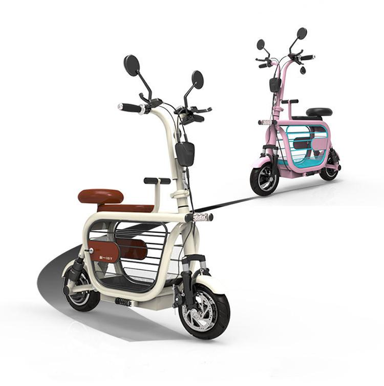 Smart Electric Scooter Mini Two Wheels Pet Car Electric Bicycles 48V 580W Electric Kick Scooter For Adult With Child Adult Seat