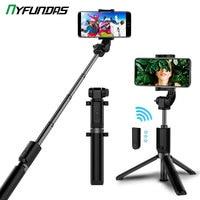 Bastão de selfie 3 em 1 com tripé e suporte de celular, compatível com xiaomi, huawei, iphone 11, samsung e outros smartphones