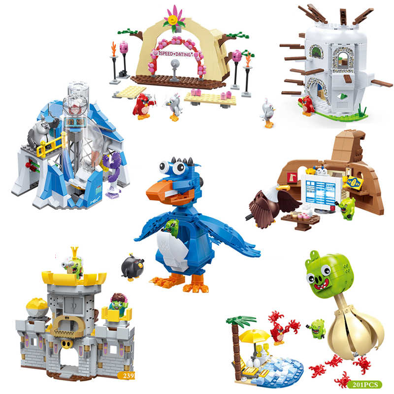 Creator Movie Cartoon Game Angry Cute Birds Secret Lab Trick Treat Pig Castle Classic Model Building Blocks Kit Bricks Kids Toys Aliexpress