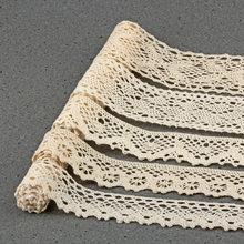 5 yards Beige coton Patchwork crochet dentelle ruban ruban pour vêtements de Table vêtement couture fête décor tissu bricolage artisanat CLOXY