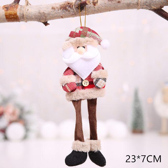 New Year 2020 Cute Santa Claus/Snowman/Angel Christmas Dolls Noel Christmas Tree Decoration for Home Xmas Navidad 2019 Kids Gift 54
