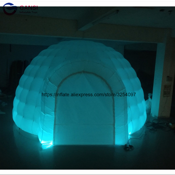Free shipping outdoor event inflatable igloo dome tent customized inflatable wedding tent with led light 2017 inflatable mushroom model with led light