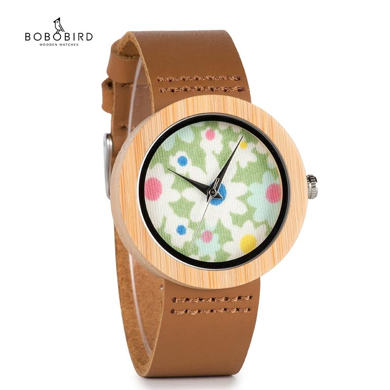 BOBO BIRD 37mm Women Ladies Wrist Watch Brand Bamboo Watch Sepcial Bracelet Quartz Watch Women's Watches Wooden Montre Femme