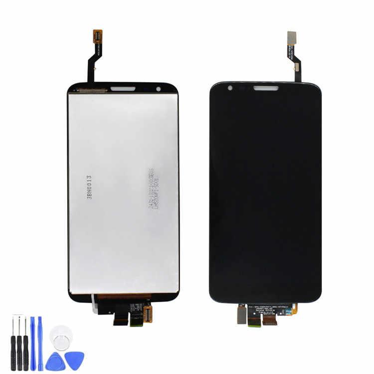 Asli 5.2 ''untuk LG G2 Layar Sentuh Display LCD untuk LG G2 LCD D800 D801 D802 D805 D803 VS980 f320 LS980 LCD Pengganti