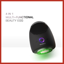 BLINGBELLE 4 in 1 beauty equipment Sonic Vibration Face Cleaner Silicone Deep Pore Cleaning Electric Waterproof Massage Soft