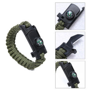 Bracelet Parachute-Cord Knife Survival Multifunctional Rescue for Men Outdoor Camping