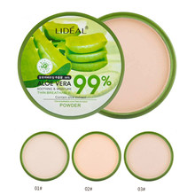 Aloe Vera Moisturizer Face Powder Smoothing Extract Pressed Powder Breathable Makeup Concealer Brighten Whitening Foundation