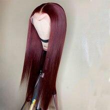 Омбре 99j цвет кружева фронта человеческих волос парики с детскими