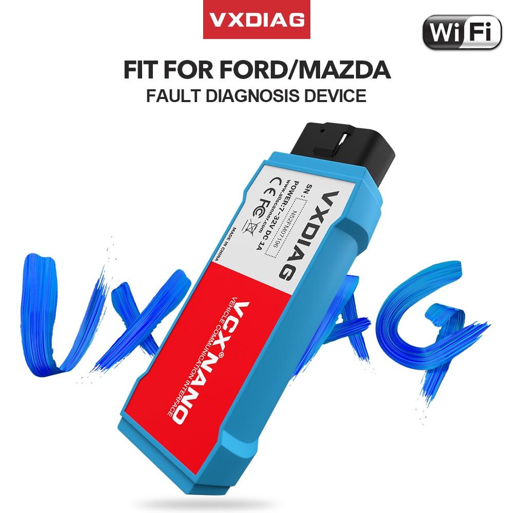 Vxdiag vcx nano para ford obd2 ferramenta de diagnóstico do carro para mazda ids v119 v118 scanner automotivo j2534 pcm abs programação ids v120