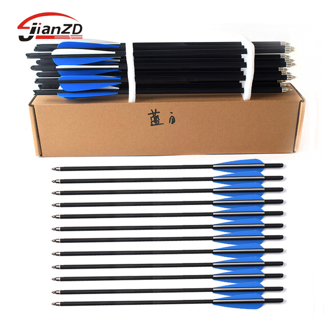 """12pcs/sold Crossbow Bolt Arrows13.5""""16""""20"""" 22"""" Crossbow Mix Carbon Arrow, Factory price, Free Shipping"""