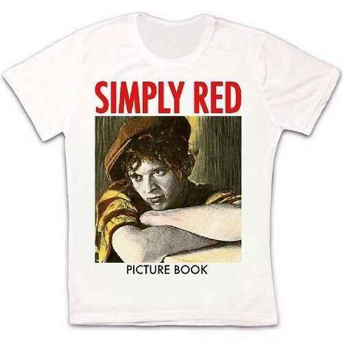 Simplemente libro de fotos rojo 85 Micky Hucknall Pop Seal Sade Retro Unisex camiseta 51