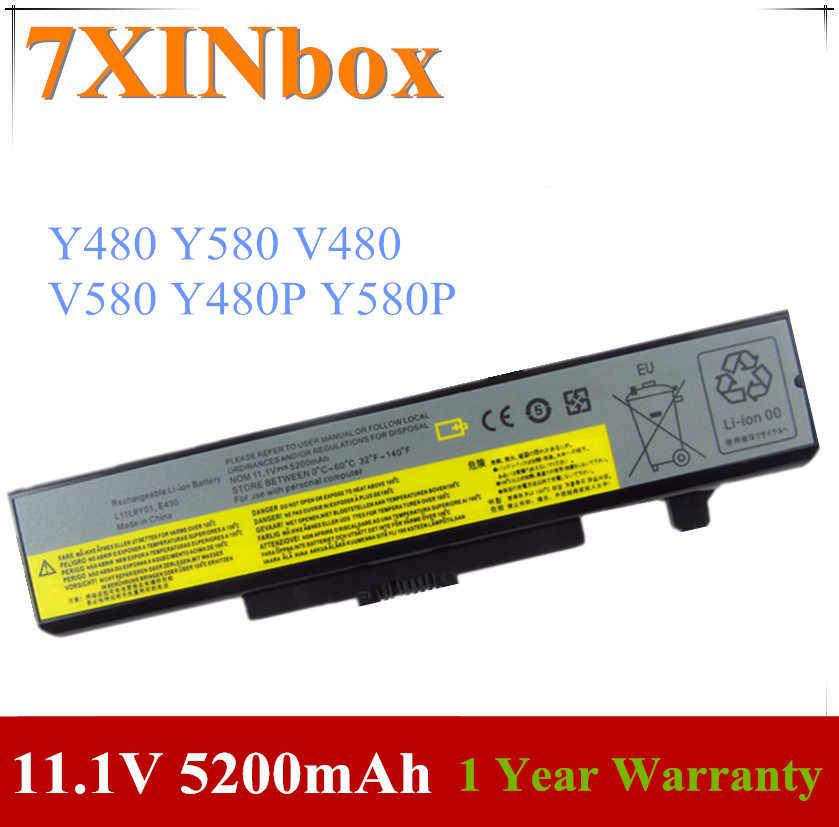 7XINbox 11.1V 5200mAh L11N6R01 L11N6Y01 L11P6R01 L11S6F01 L11S6Y01 بطارية لأجهزة لينوفو IdeaPad Y480 Y580 V480 V580 Y480P Y580P