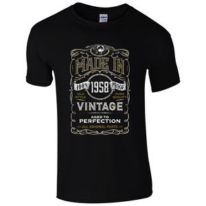 Made in 1958 T-Shirt Born 60th Year Birthday Age Present Vintage Funny Mens Gift Cool Casual pride tshirt men Unisex New Fashion(China)