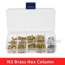 Screw-Nut Spacer Column Pcb-Board Standoff-Support Pillar Brass Female Hex for 120pcs