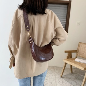 Image 3 - Stone Pattern Retro PU Leather Crossbody Bags For Women 2021 Small Shoulder Simple Bag Lady Phone Handbags and Purses